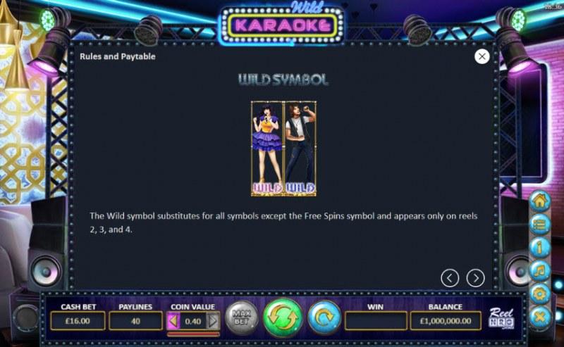Wild Karaoke :: Wild Symbols Rules