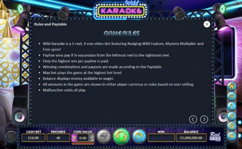 Wild Karaoke :: General Game Rules