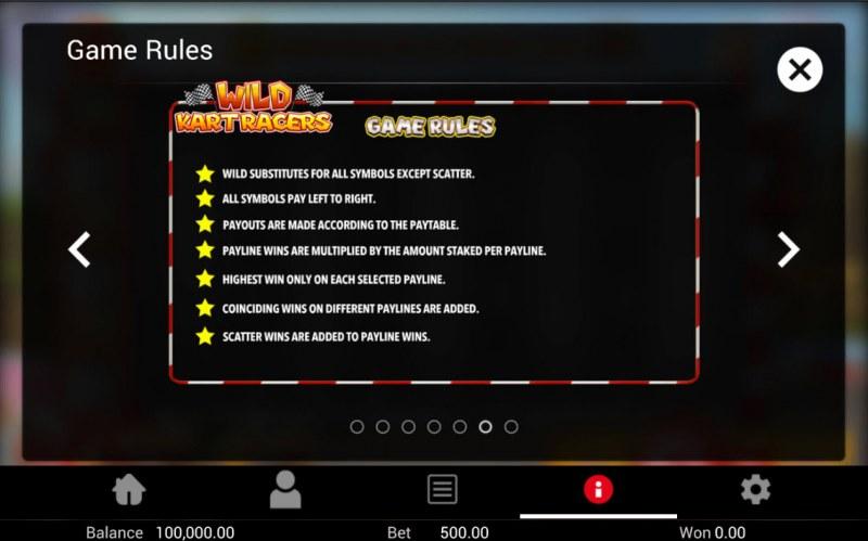 Wild Kart Racers :: General Game Rules