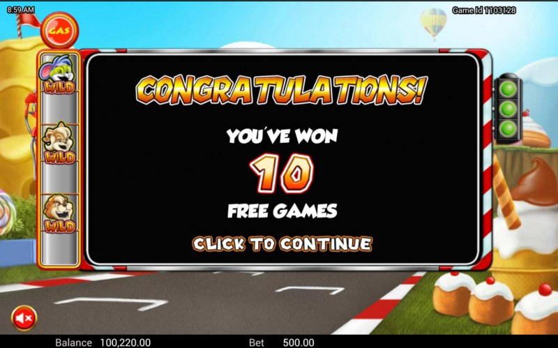 Wild Kart Racers :: 10 free spins awarded
