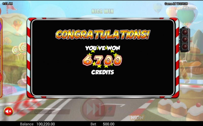Wild Kart Racers :: Total Free Spins Payout