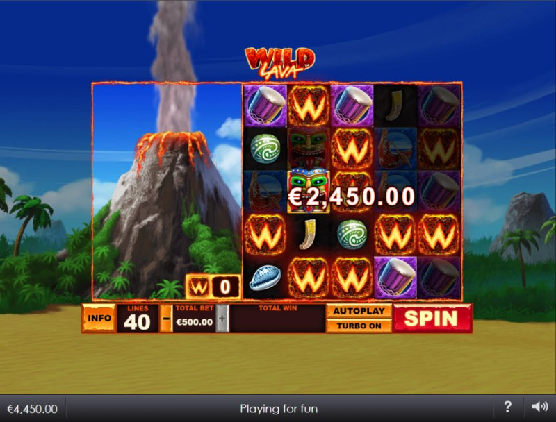 Wild Lava :: Multiple winning combinations lead to a big win