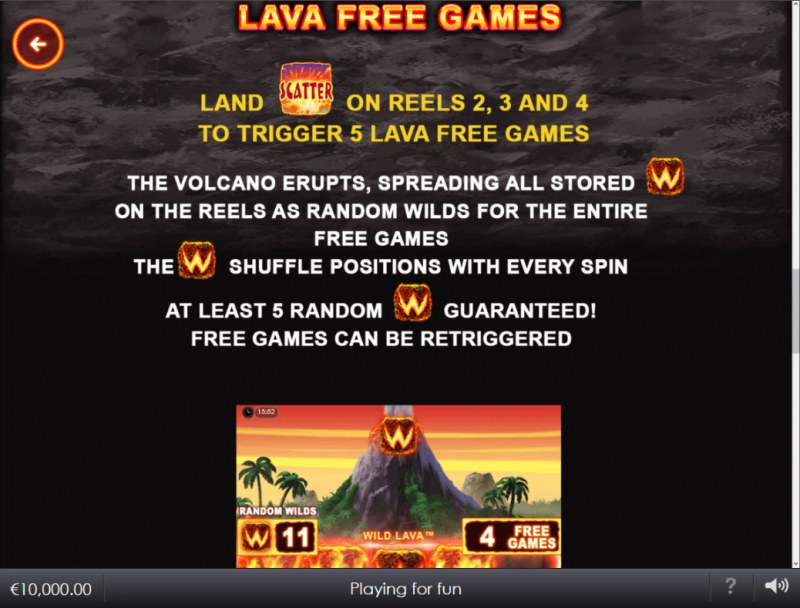 Wild Lava :: Free Game Rules