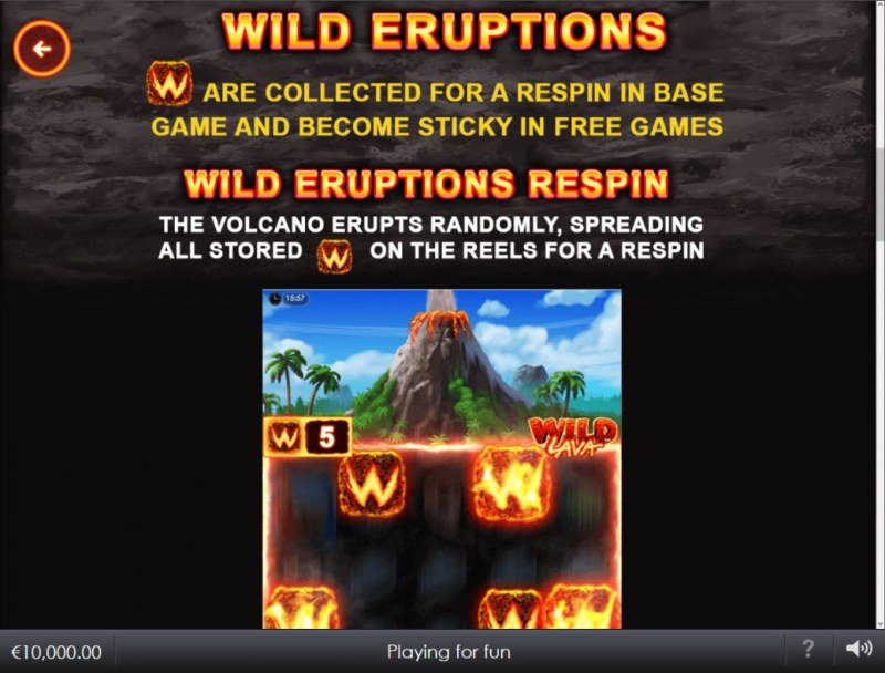 Wild Lava :: Feature Rules