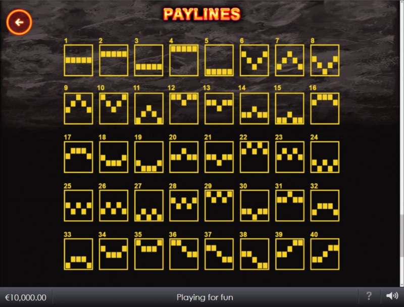 Wild Lava :: Paylines 1-50