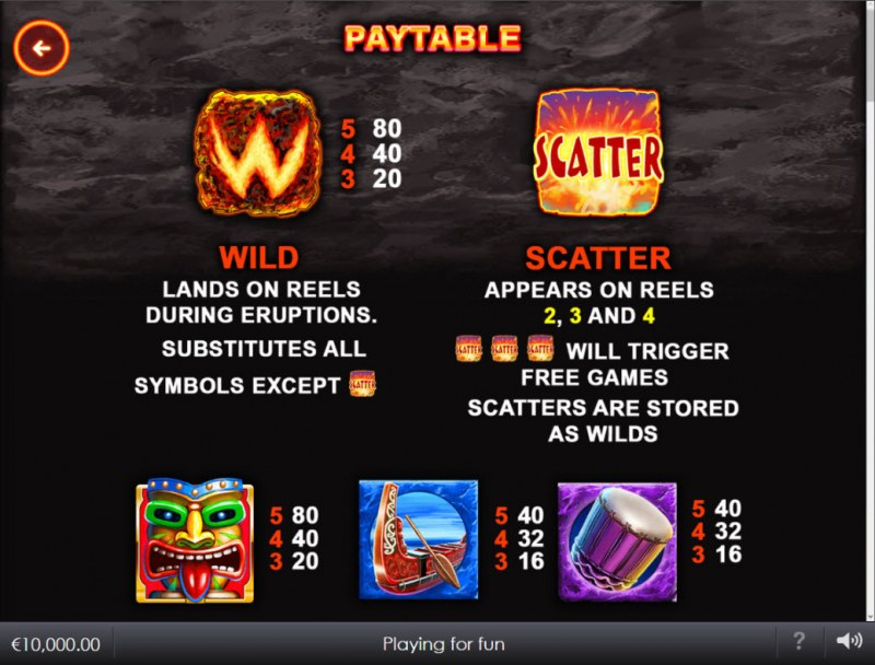 Wild Lava :: Wild and Scatter Rules