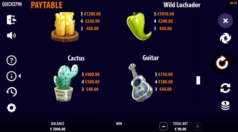 Wild Luchador :: Paytable - High Value Symbols