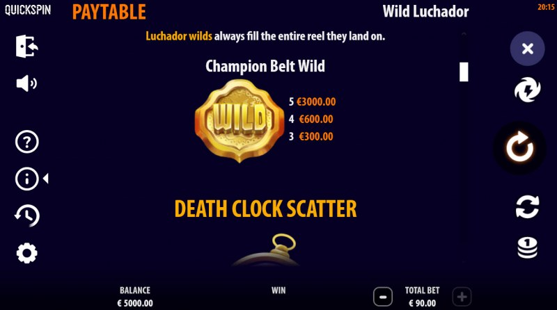 Wild Luchador :: Wild and Scatter Rules