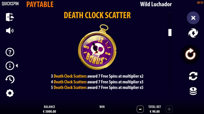 Wild Luchador :: Scatter Symbol Rules