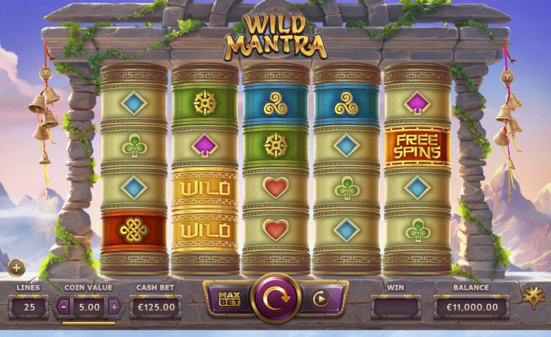 Play slots at Casino Cruise: Casino Cruise featuring the Video Slots Wild Mantra with a maximum payout of $125,000