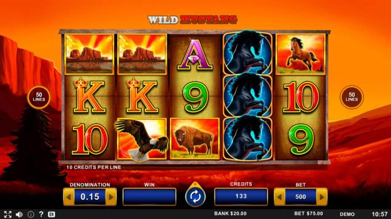 Wild Mustang :: Main Game Board