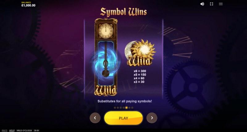 Wild O'Clock :: Wild Symbols Rules