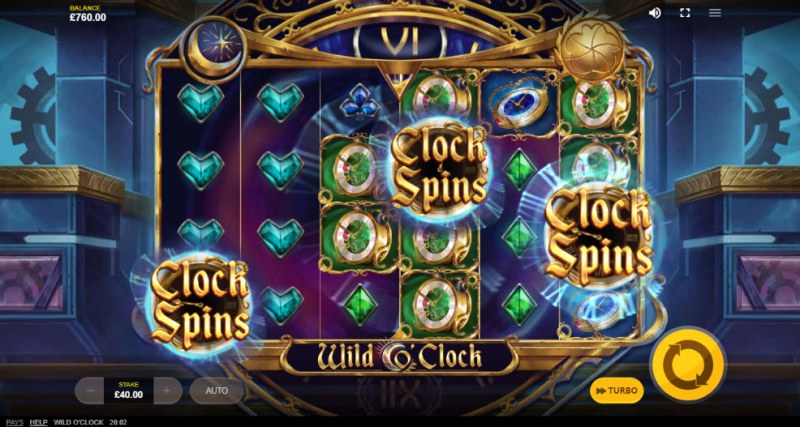Wild O'Clock :: Scatter symbols triggers the free spins feature