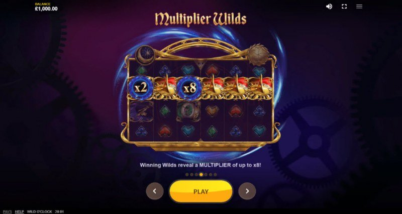 Wild O'Clock :: Multiplier Wilds