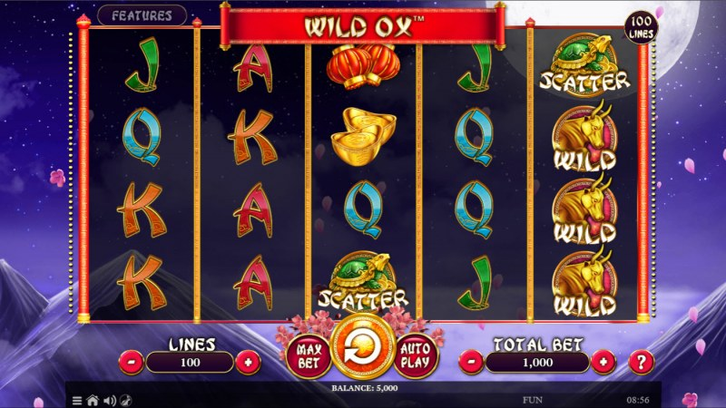 Wild Ox :: Base Game Screen