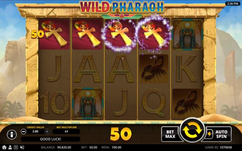 Wild Pharaoh :: A four of a kind win