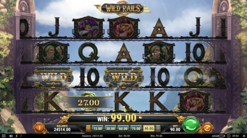 Wild Rails :: Multiple winning paylines