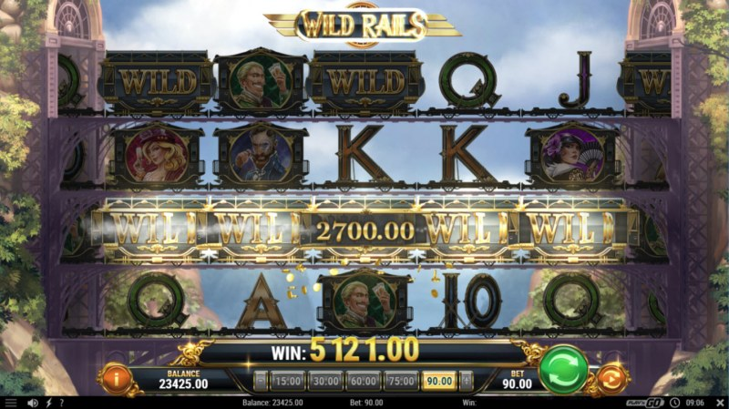 Wild Rails :: Multiple winning combinations leads to a big win