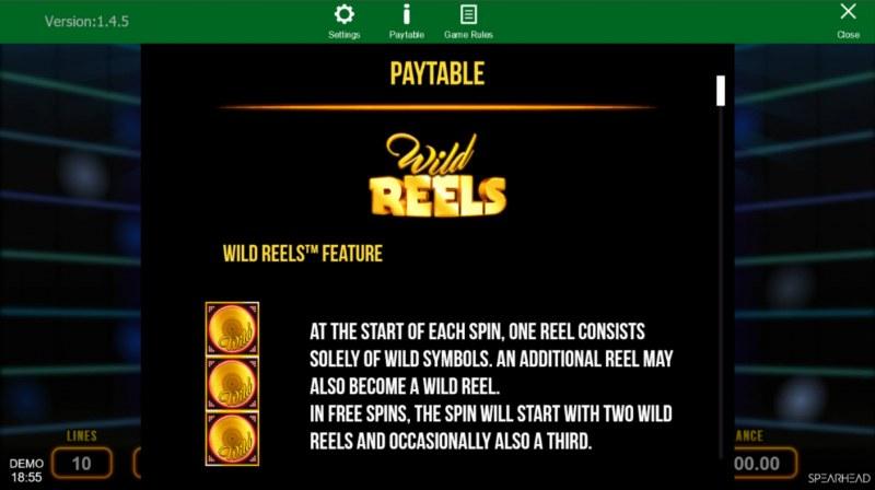 Wild Reels :: Wild Symbol Rules