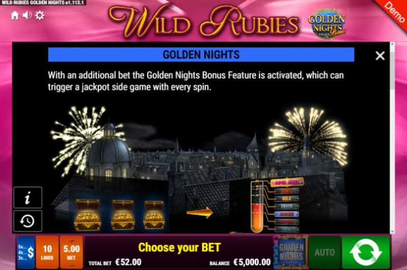 Wild Rubies Golden Nights Bonus :: Golden Nights Bonus