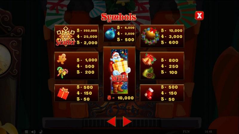 Wild Santa :: Paytable
