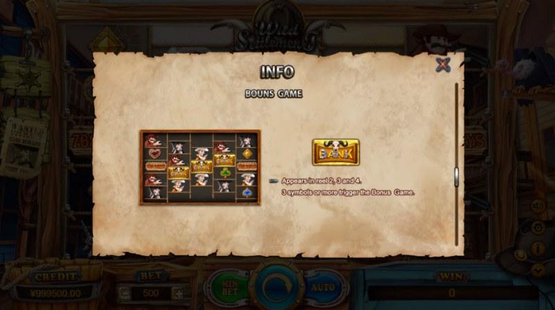 Wild Settlement :: Bonus Game Rules