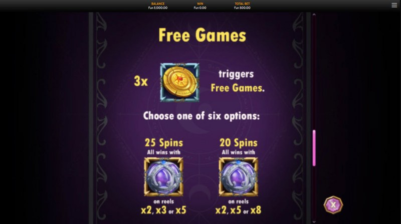Wild Sorcery :: Free Spins Rules