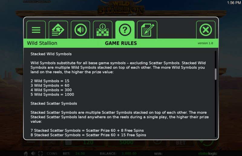 Wild Stallion :: General Game Rules