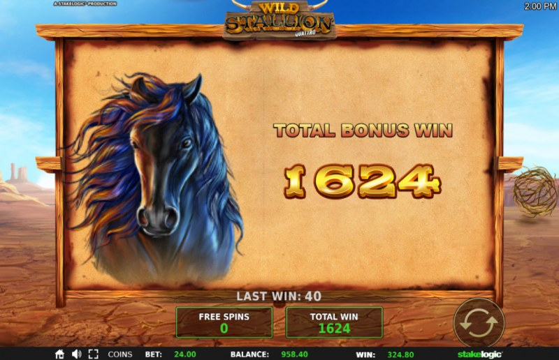 Wild Stallion :: Total free spins payout