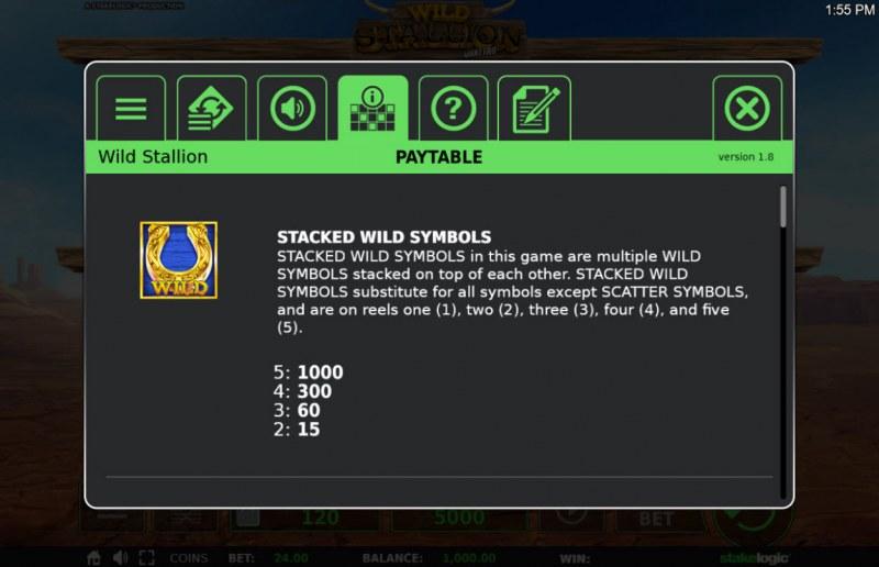 Wild Stallion :: Wild Symbols Rules