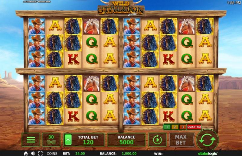 Wild Stallion :: Quad Game Board