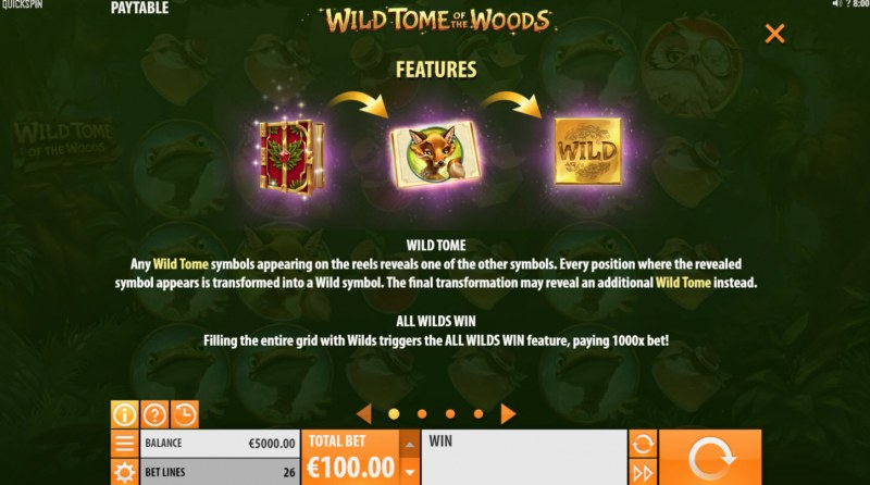Wild Tome of the Woods :: Free Spins Rules
