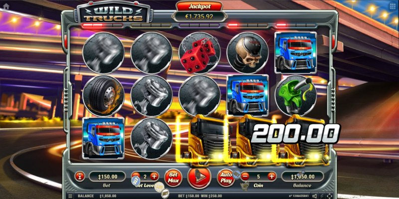 Wild Trucks :: Game Pays In Both Directions