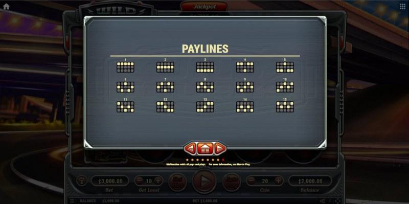 Wild Trucks :: Paylines 1-15
