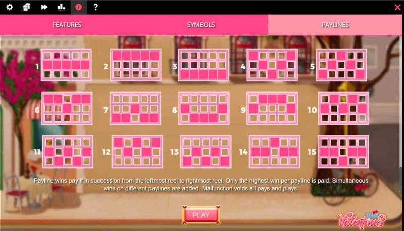 Wild Valentines :: Paylines 1-15