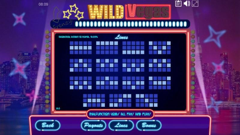 Wild Vegas :: Paylines 1-15