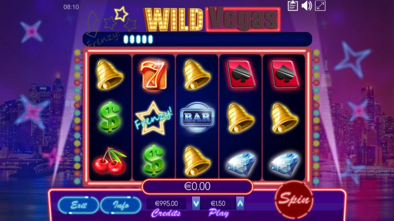 Wild Vegas :: Collect frenzy star symbols to advance meter