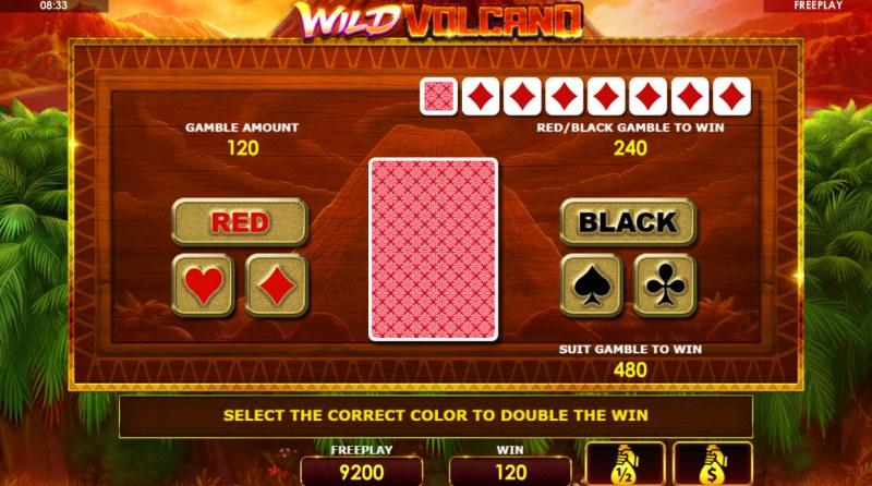 Wild Volcano :: Gamble feature