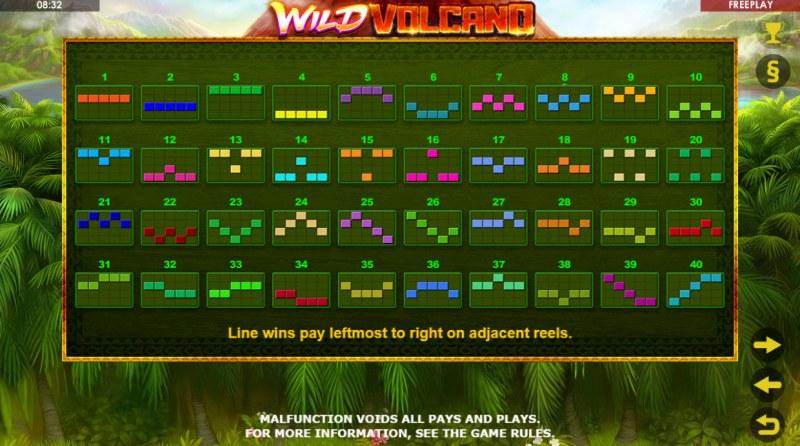 Wild Volcano :: Paylines 1-40
