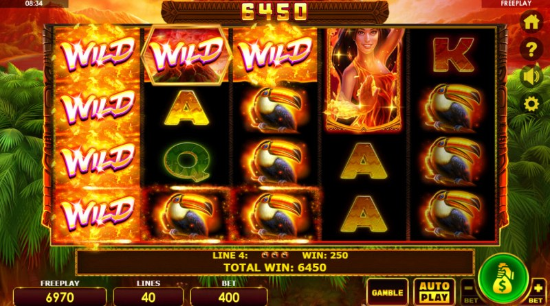 Wild Volcano :: Multiple winning paylines