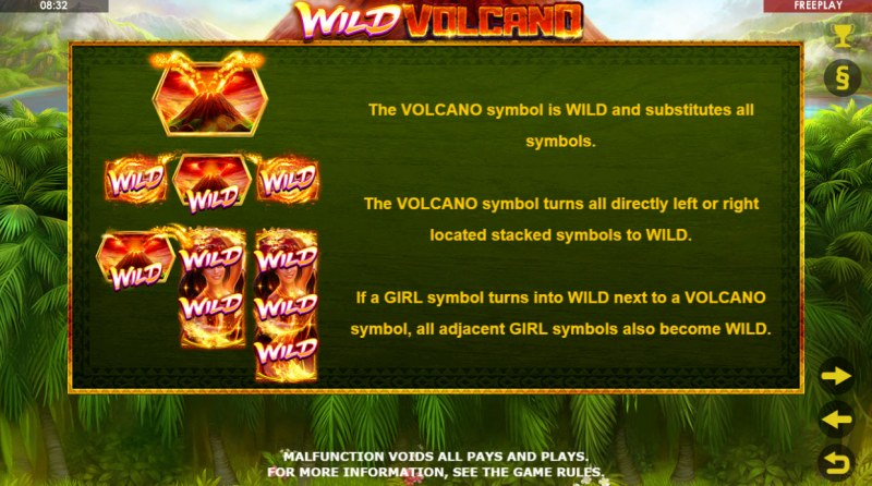 Wild Volcano :: Feature Rules