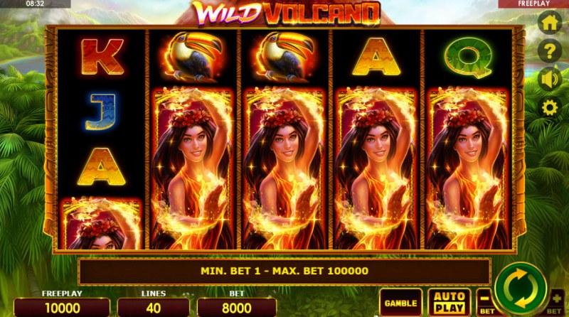 Wild Volcano :: Base Game Screen