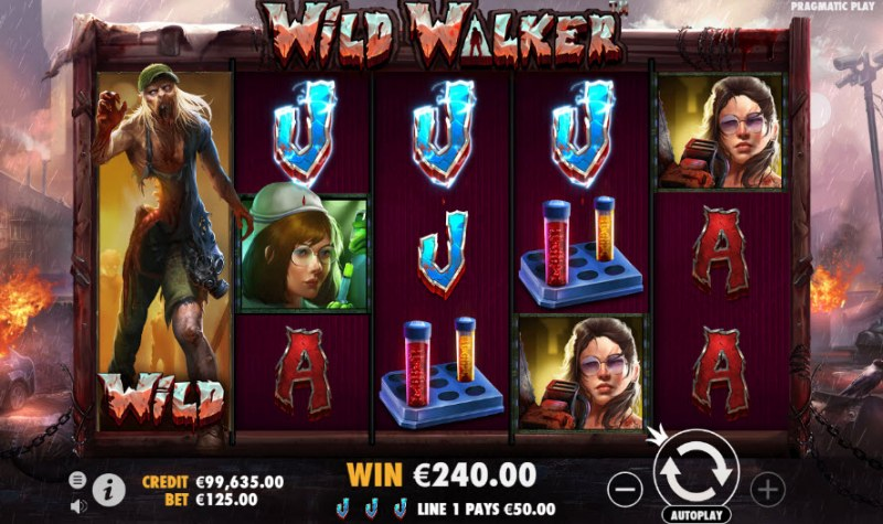 Wild Walker :: Four of a kind Win