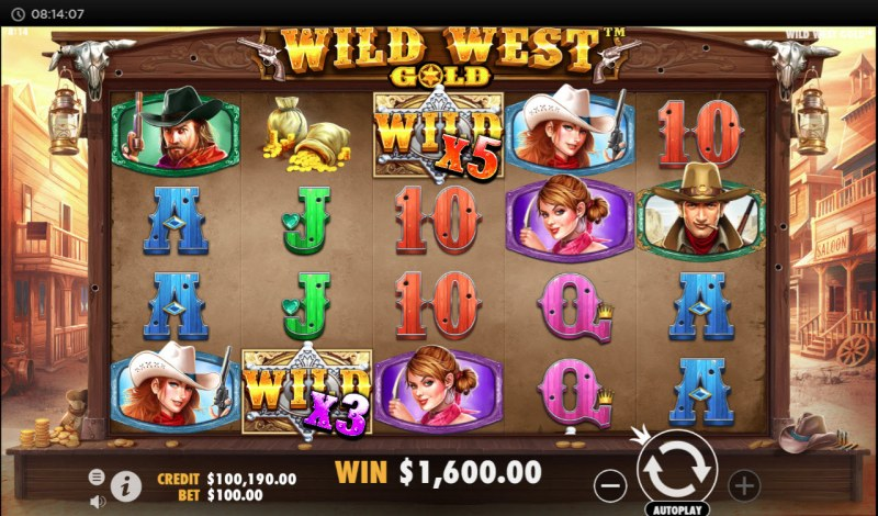Wild West Gold :: Multiple winning combinations leads to a big win
