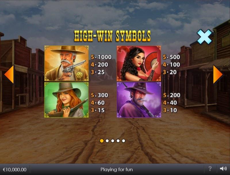 Wild West Wilds :: Paytable - High Value Symbols