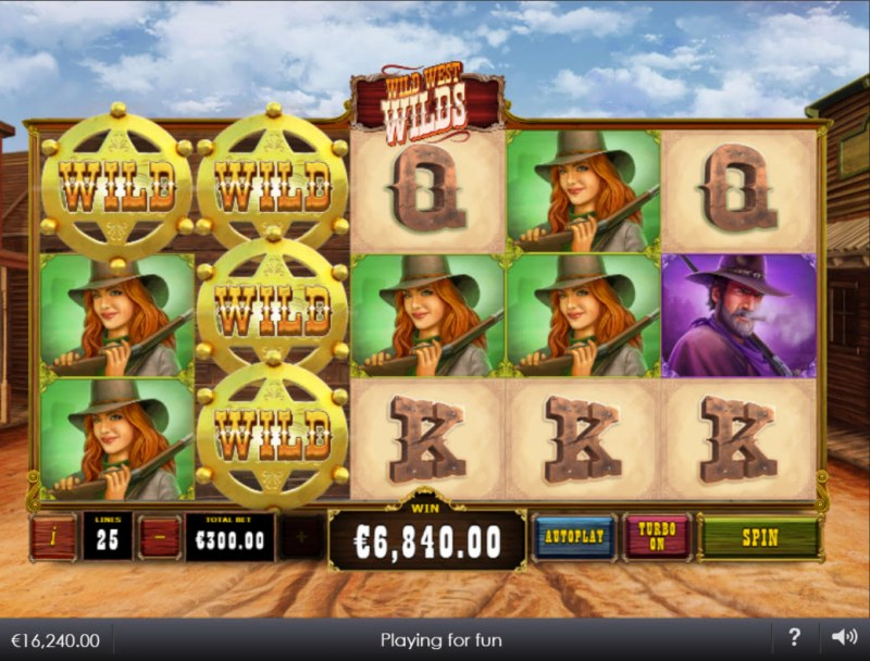 Wild West Wilds :: Multiple winning combinations lead to a big win