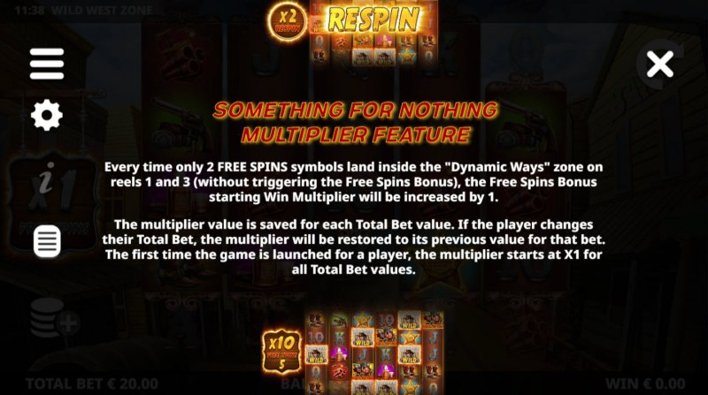Wild West Zone :: Somewthing For Nothing Multiplier Feature