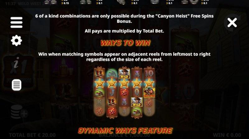 Wild West Zone :: Ways To Win