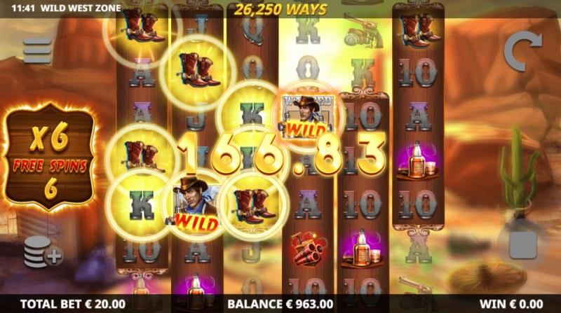 Wild West Zone :: Free Spins Game Board