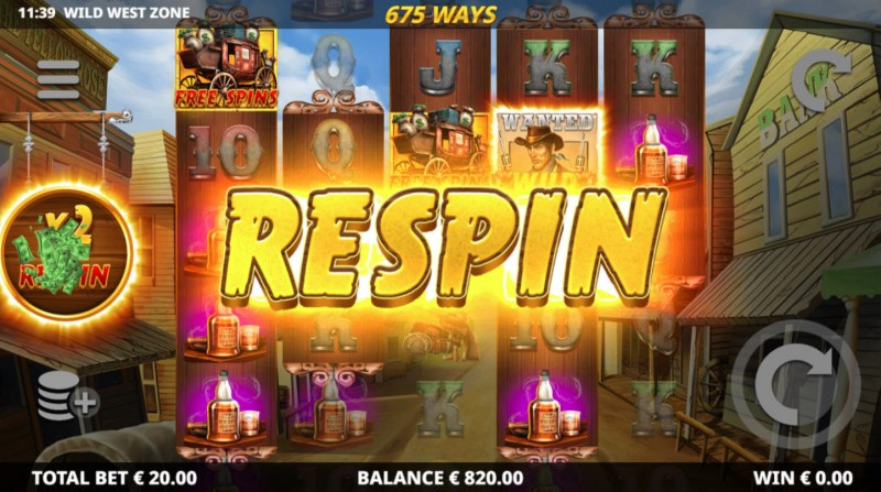 Wild West Zone :: Respin triggered